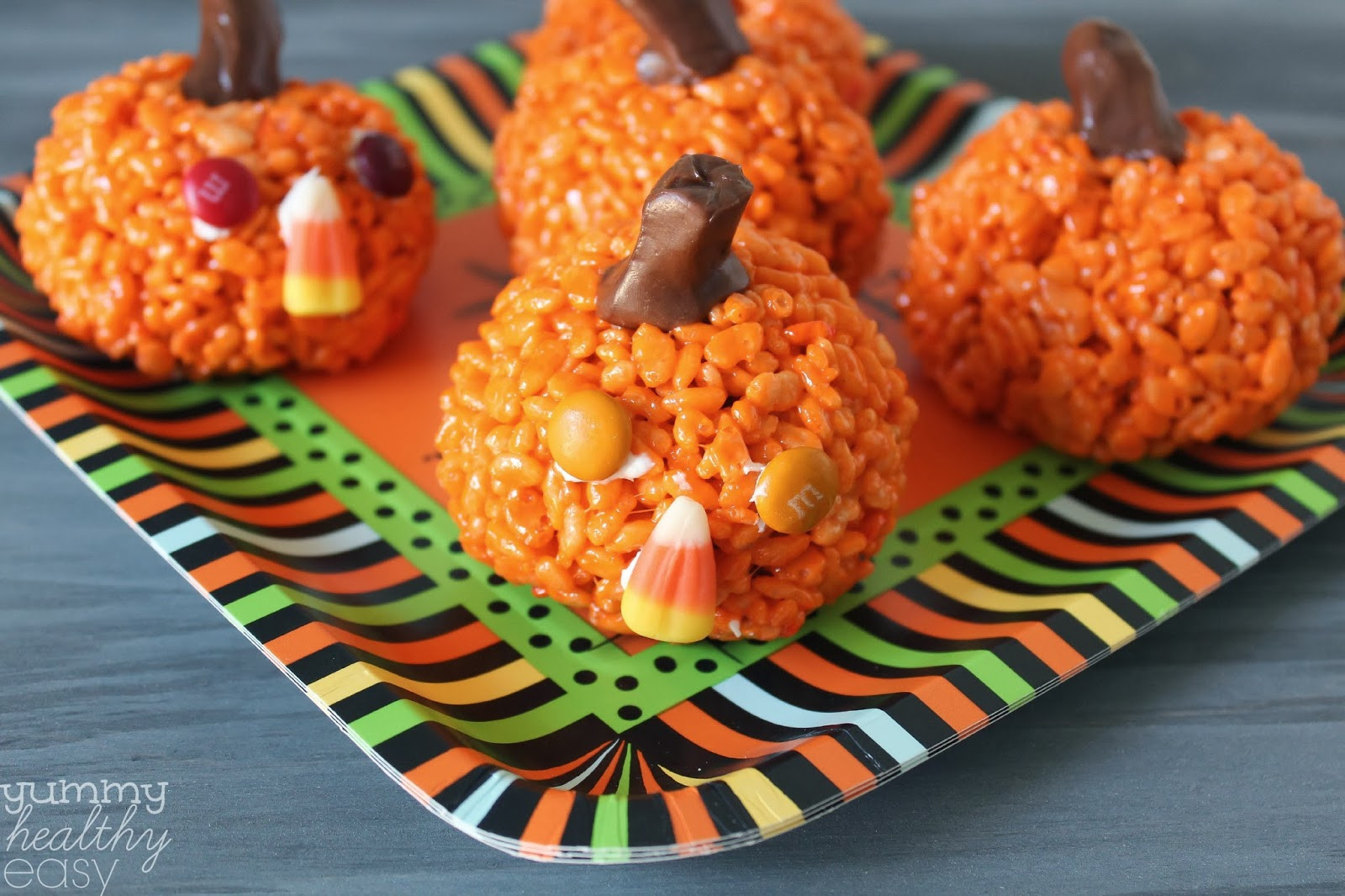 Healthy Pumpkin Snacks  Easy Pumpkin Krispies Treats Yummy Healthy Easy