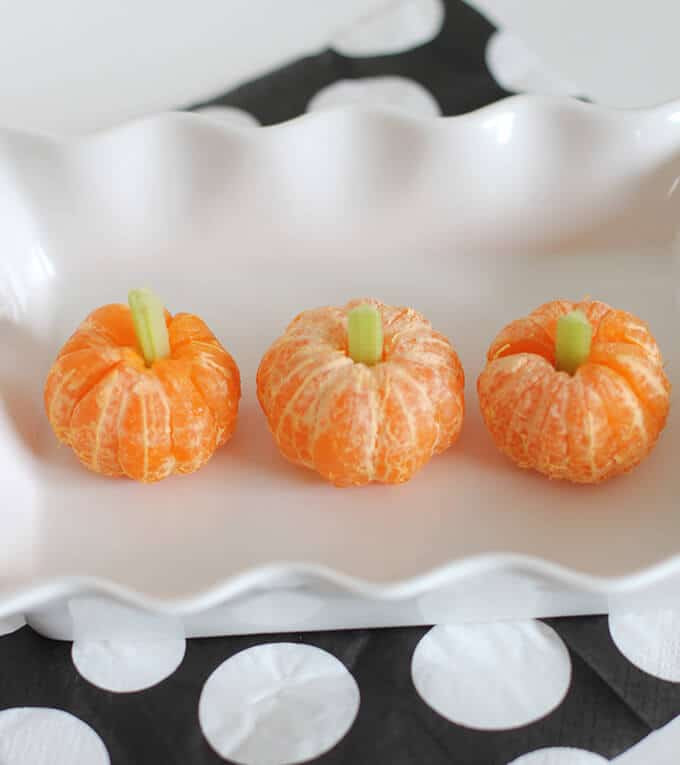 Healthy Pumpkin Snacks  10 Clever & Easy Halloween Lunch Ideas for Kids So Festive