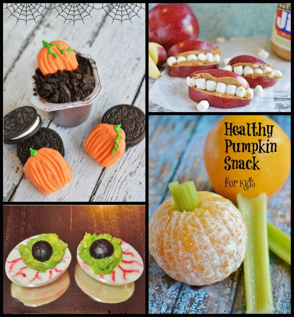 Healthy Pumpkin Snacks  Healthy Halloween Kid s Snack Frankenstein Grape Cup
