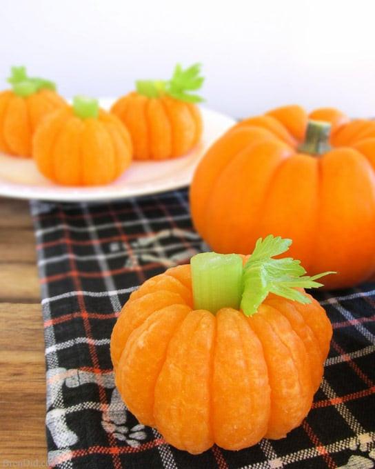 Healthy Pumpkin Snacks  How to Make Tangerine Pumpkins & 8 Other Healthy Halloween