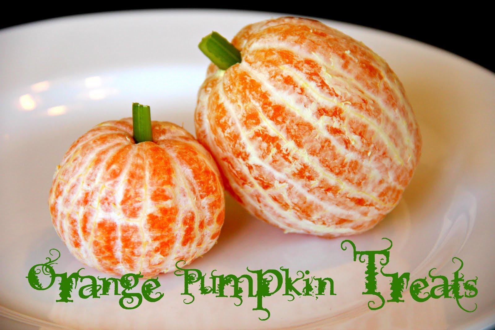 Healthy Pumpkin Snacks  Blue Skies Ahead Orange Pumpkin Treats