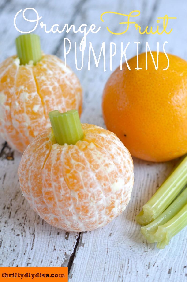 Healthy Pumpkin Snacks  Healthy Halloween Snacks – Orange Fruit Pumpkins