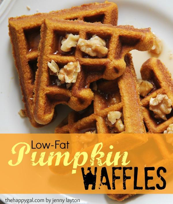 Healthy Pumpkin Waffles  Low Fat Pumpkin Waffles The Happy Gal