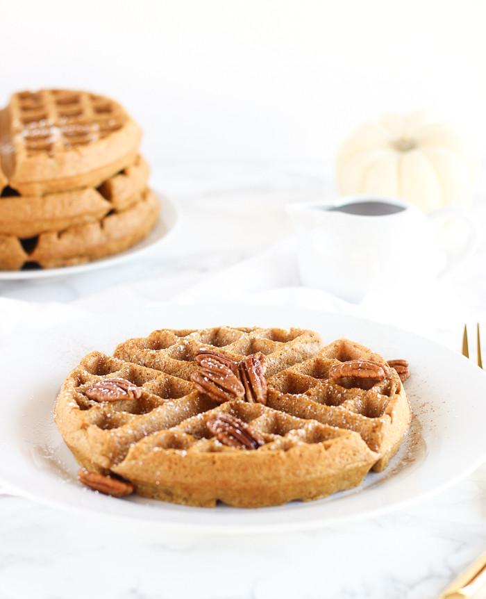 Healthy Pumpkin Waffles  Whole Wheat Pumpkin Waffles Lively Table