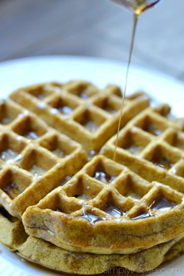 Healthy Pumpkin Waffles  Healthy Pumpkin Waffles To Simply Inspire