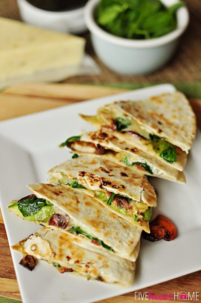 Healthy Quesadillas Recipes  Best 25 Chicken spinach mushroom ideas on Pinterest