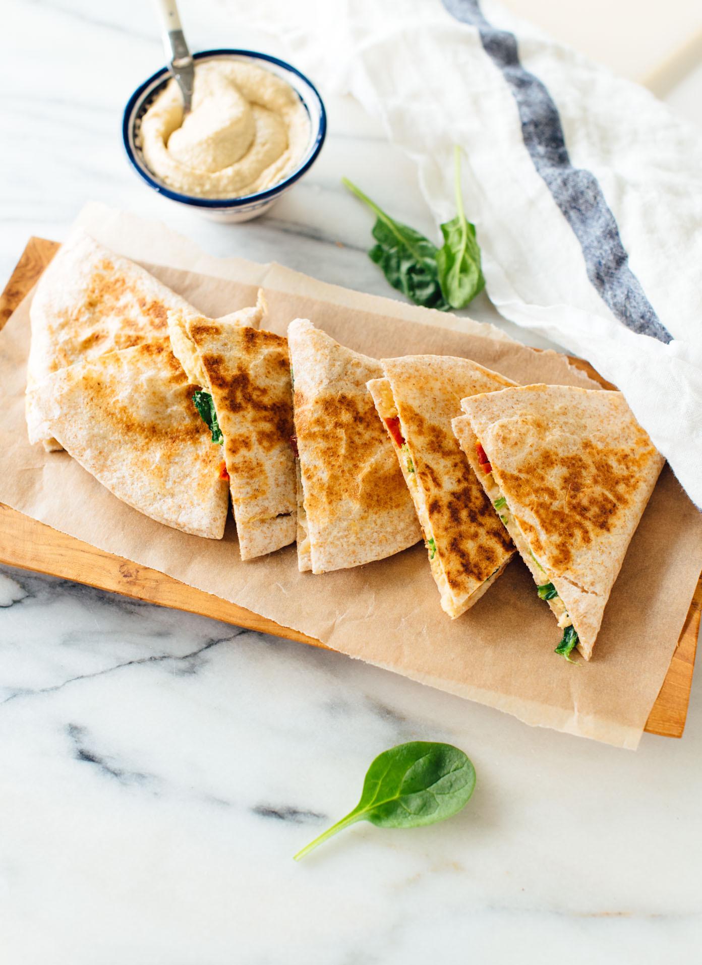 Healthy Quesadillas Recipes  Hummus Quesadillas Ekin Olive Oil