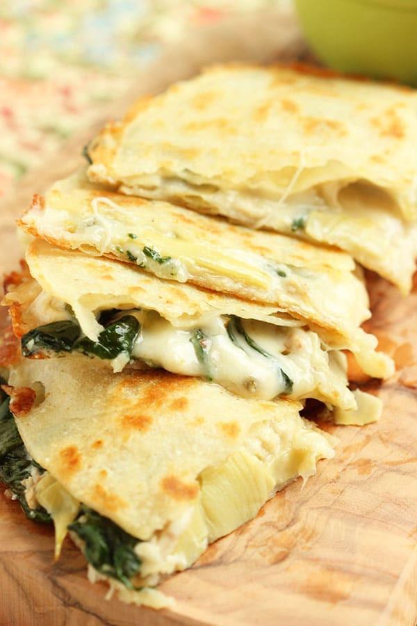 Healthy Quesadillas Recipes  Spinach Artichoke and Chicken Quesadilla The Suburban