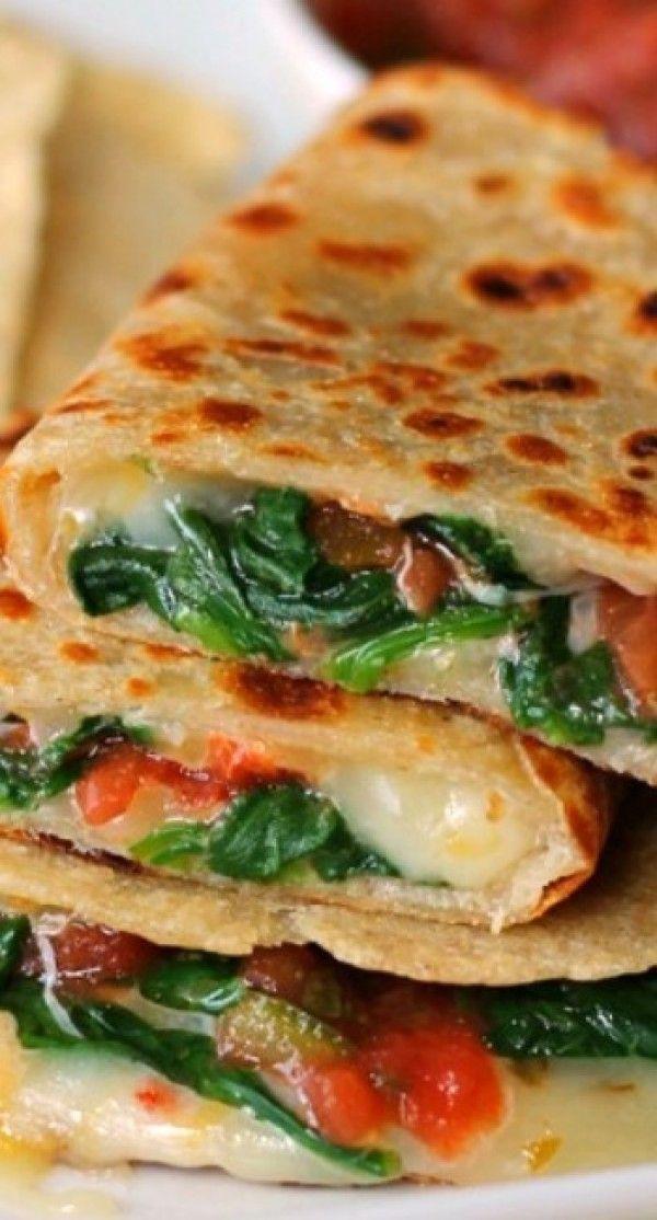 Healthy Quesadillas Recipes  spinach quesadilla recipe