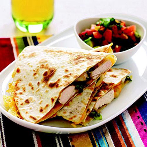 Healthy Quesadillas Recipes  Chicken Quesadillas with Avocado Tomato Salsa