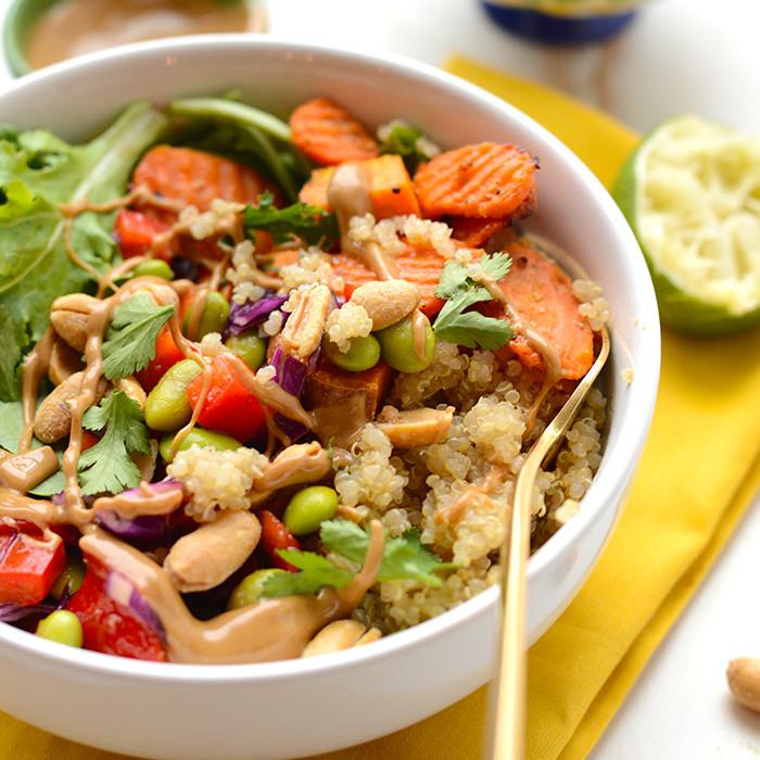 Healthy Quinoa Bowls  Healthy Thai Coconut Quinoa Bowls Fit Foo Finds