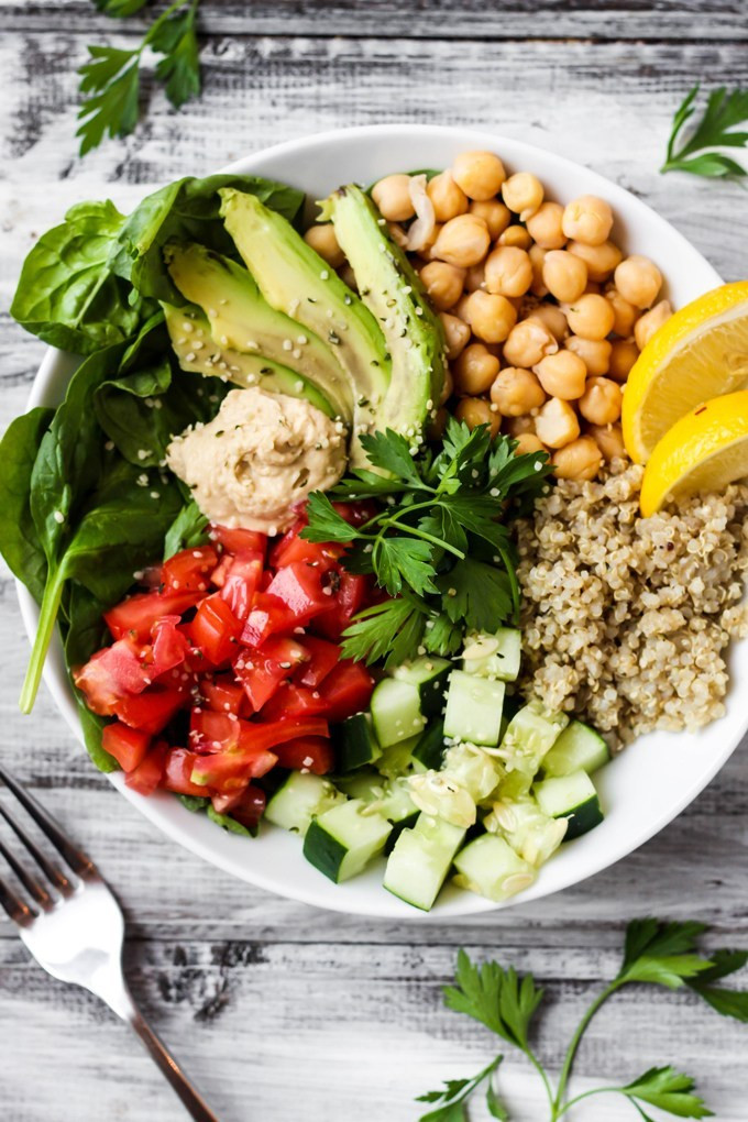 Healthy Quinoa Bowls  Greek Quinoa Buddha Bowl & A Special Announcement