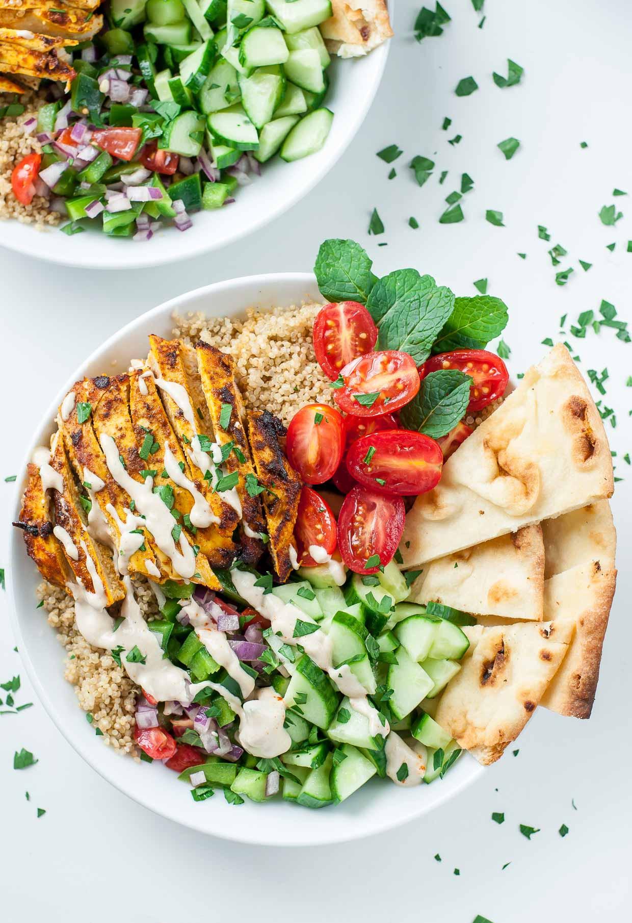 Healthy Quinoa Bowls  Healthy Chicken Shawarma Quinoa Bowls Peas And Crayons