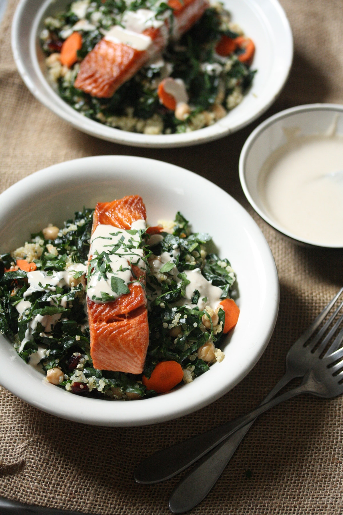 Healthy Quinoa Bowls  Salmon kale and quinoa bowls Healthy recipes