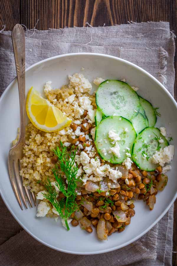 Healthy Quinoa Bowls  lentil quinoa bowls with coriander and lemon Healthy