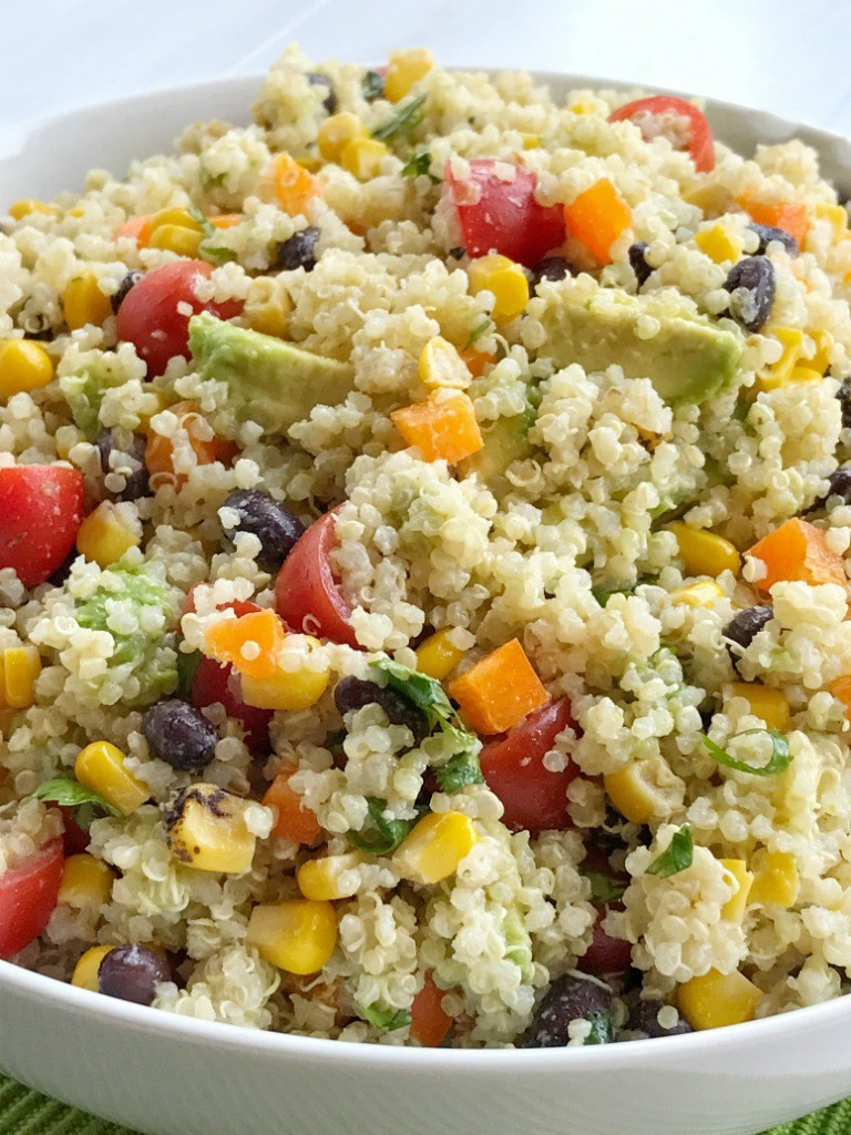 Healthy Quinoa Side Dish  Fiesta Quinoa Salad To her as Family