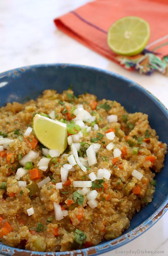 Healthy Quinoa Side Dish  Fresh and Healthy Mexican Quinoa Recipe