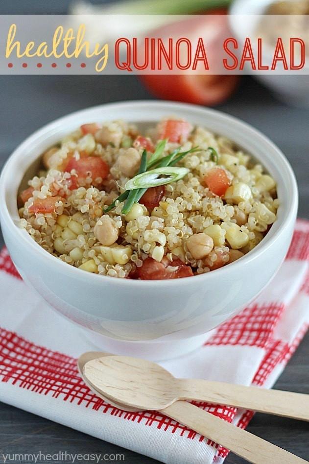 Healthy Quinoa Side Dish  Healthy Quinoa Salad Yummy Healthy Easy
