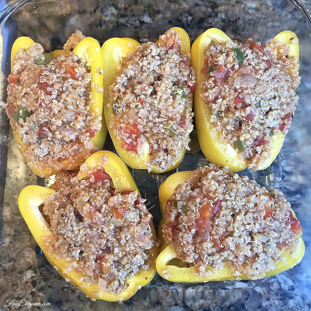 Healthy Quinoa Stuffed Peppers  Healthy Quinoa Stuffed Peppers FrugElegance