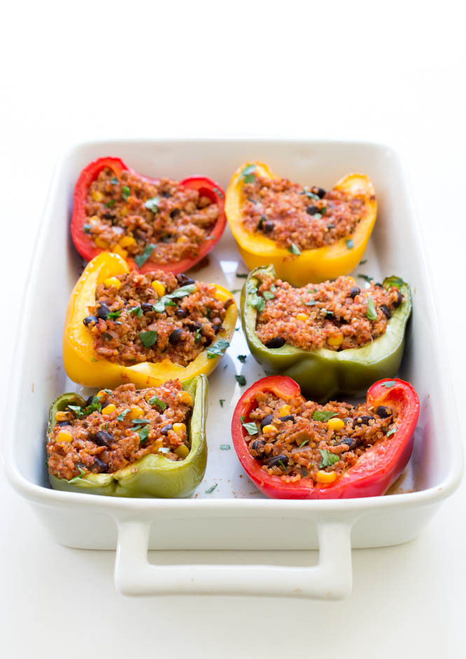 Healthy Quinoa Stuffed Peppers  Healthy Mexican Turkey and Quinoa Stuffed Peppers