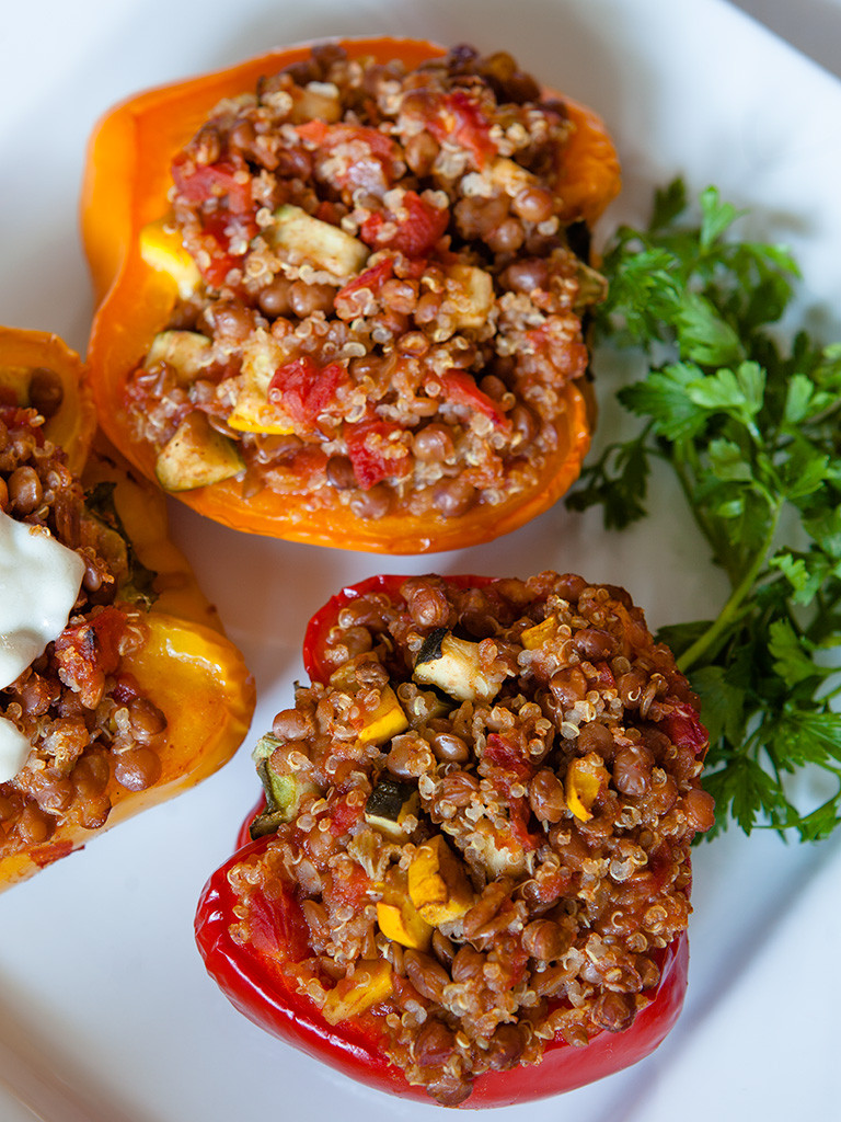 Healthy Quinoa Stuffed Peppers  Lentil and Quinoa Stuffed Peppers Healthy Food