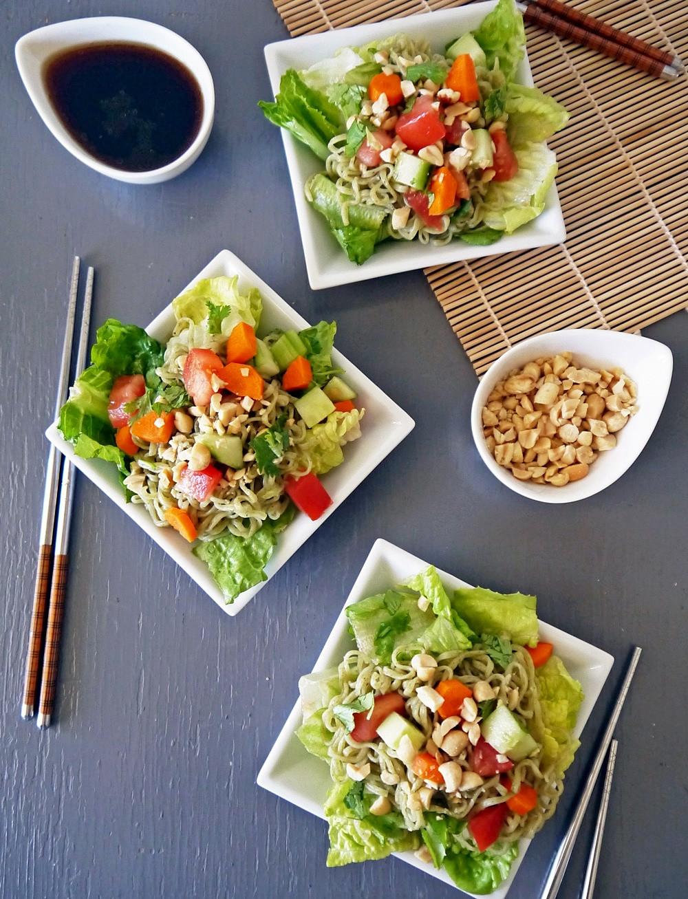 Healthy Ramen Noodles  HEALTHY RAMEN NOODLE SALAD RECIPEVegan Chow Down