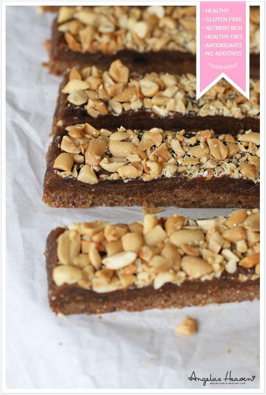 Healthy Raw Snacks  Raw food bars – just like snickers – Angelas Heaven
