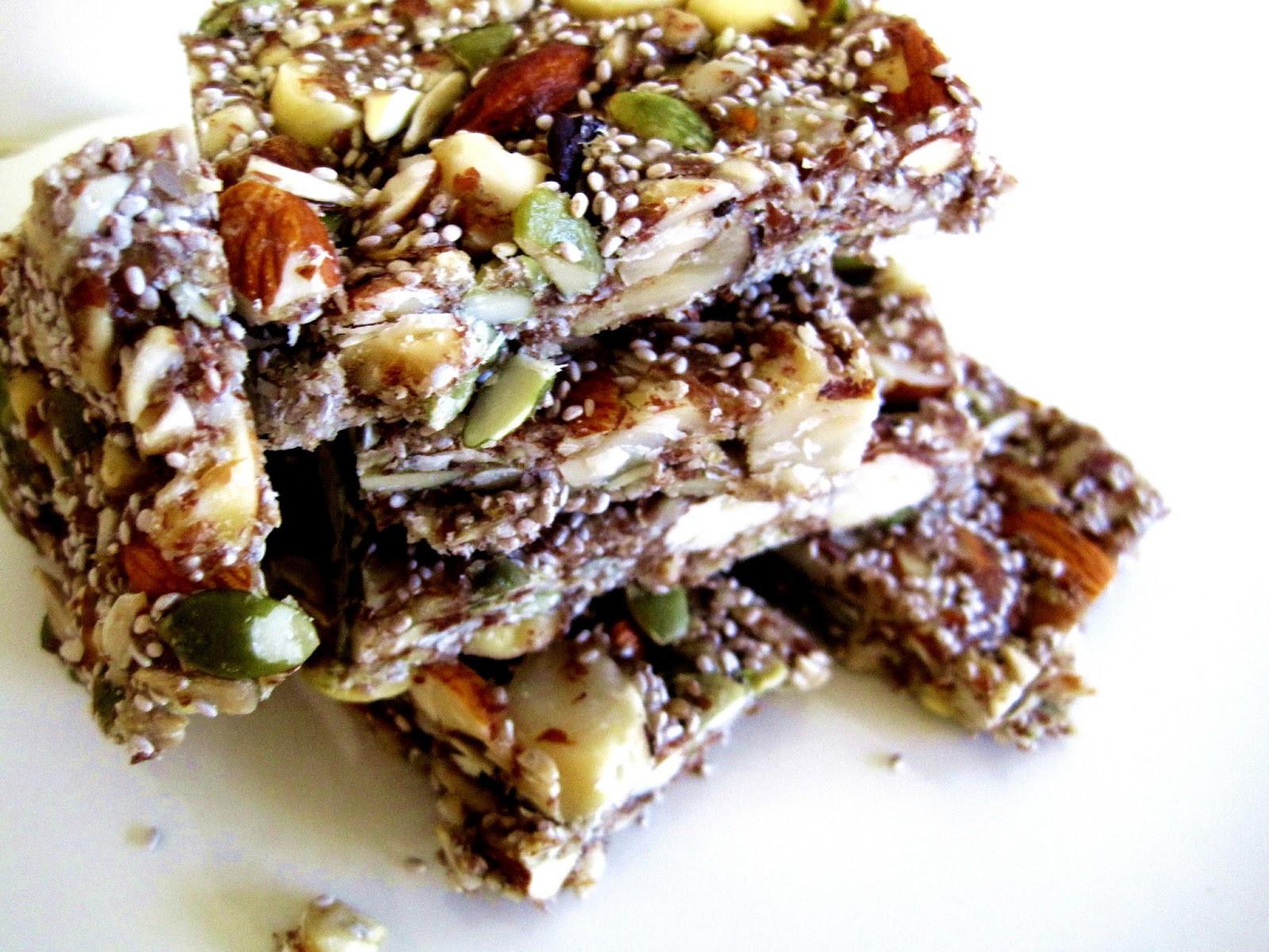 Healthy Raw Snacks  Raw Snacks Honey Nut Raw Bars Recipe Raw Recipes with