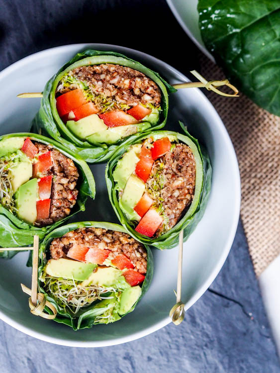 Healthy Raw Vegan Recipes  Raw Vegan Recipes Collard Wraps Gluten Free Paleo