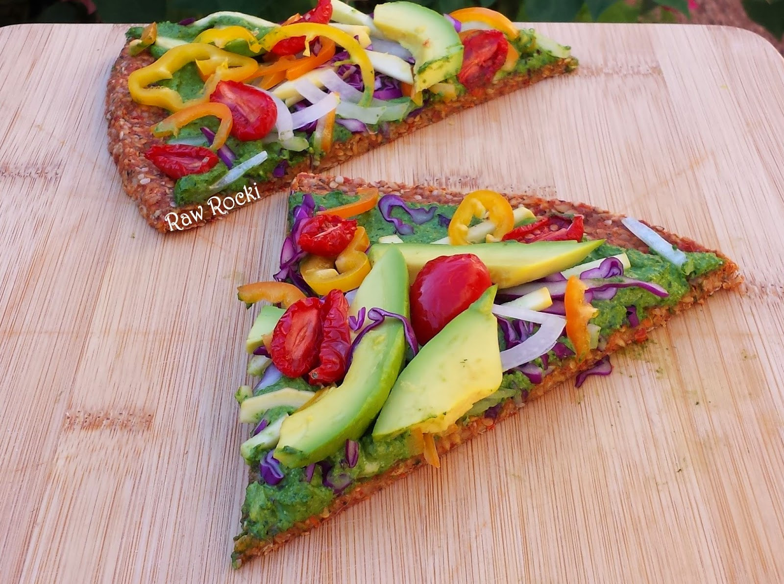 Healthy Raw Vegan Recipes  Raw Vegan Recipes by Rocki Raw Vegan Pizza with Spinach