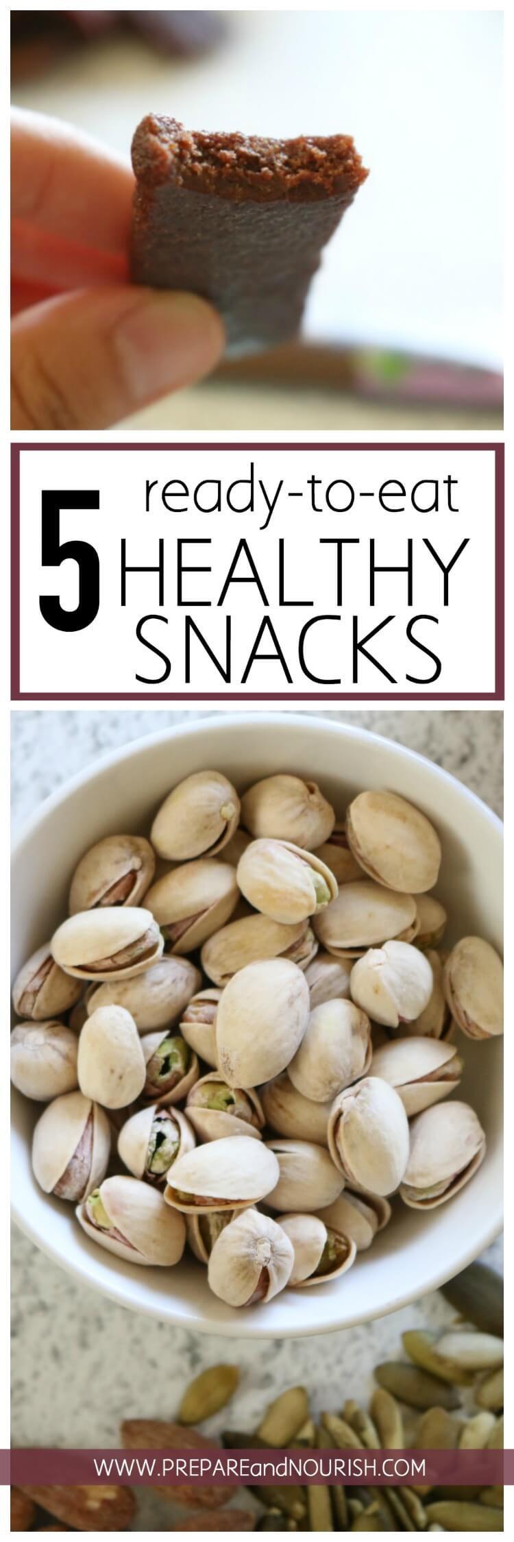 Healthy Ready To Eat Snacks  Five Paleo Ready to Eat Healthy Snacks Prepare & Nourish