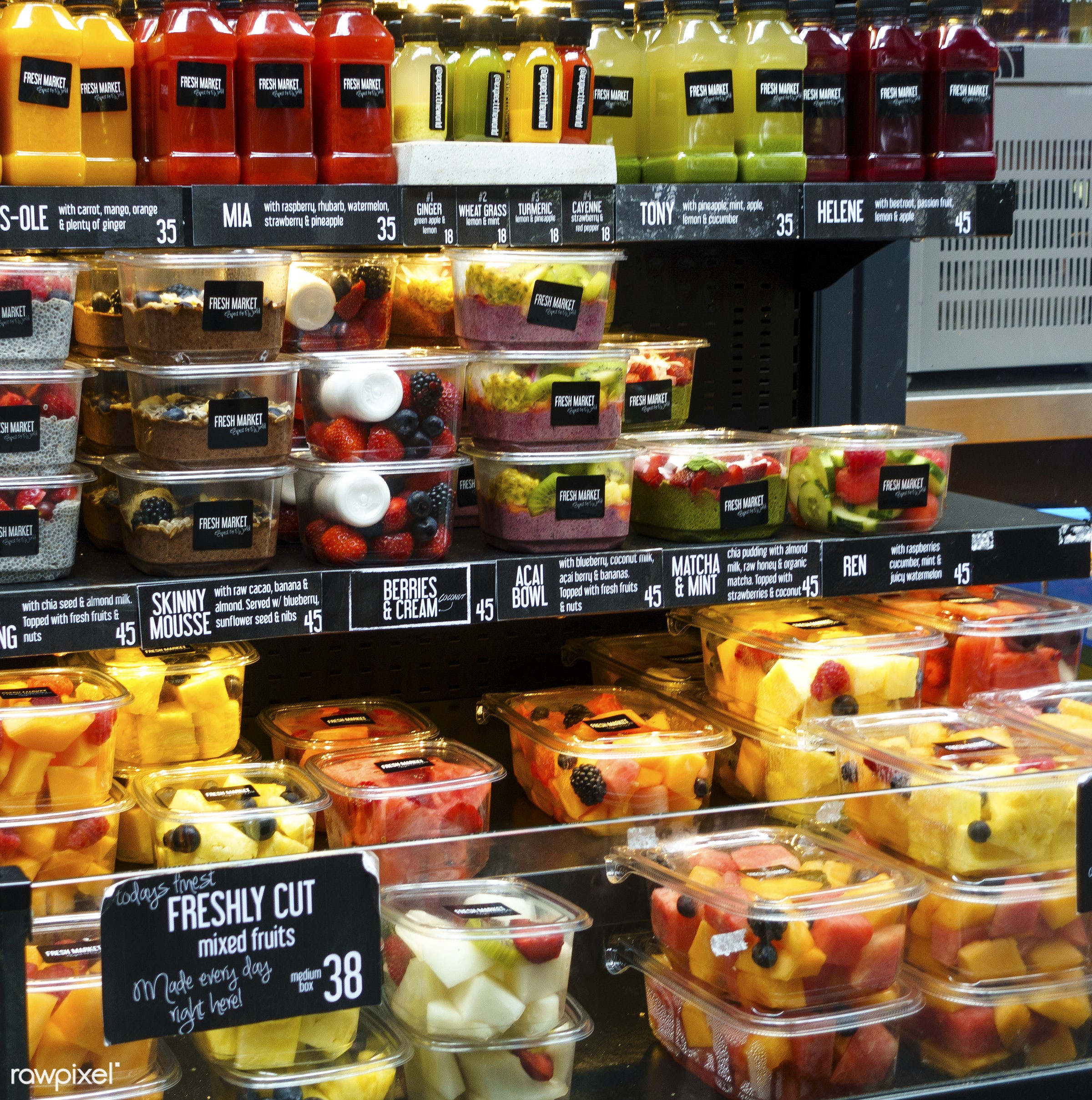 Healthy Ready To Eat Snacks  Ready to eat fresh fruits and healthy snacks in a