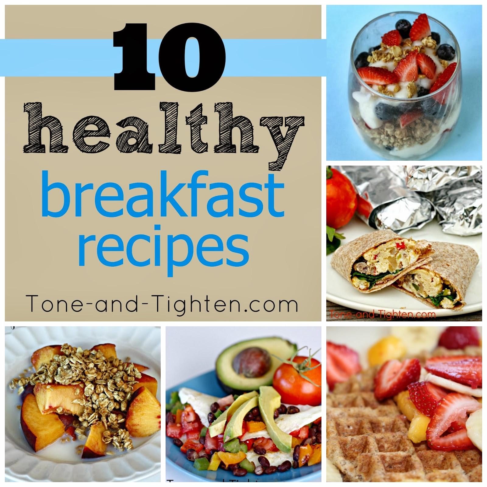 Healthy Recipes Breakfast  10 QUICK Healthy Breakfast Recipes