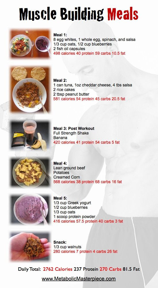 Healthy Recipes For Weight Loss And Muscle Gain  Muscle Building Meal Plan I think I might try some of