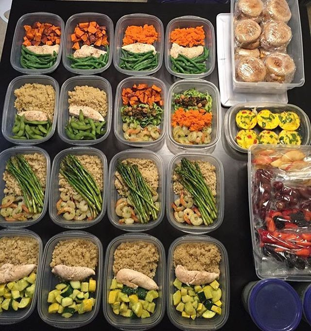 Healthy Recipes For Weight Loss And Muscle Gain  What an awesome FIRST TIME meal prep by ryann103 that