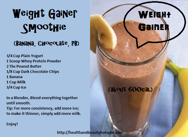 Healthy Recipes For Weight Loss And Muscle Gain  WeightGainer Smoothie
