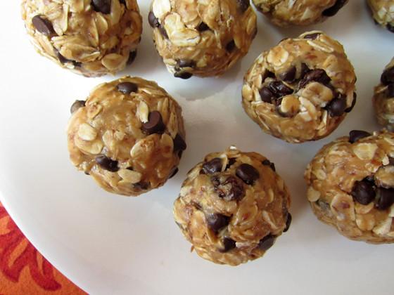 Healthy Recipes Snacks  No Bake Peanut Butter Trail Mix Bites