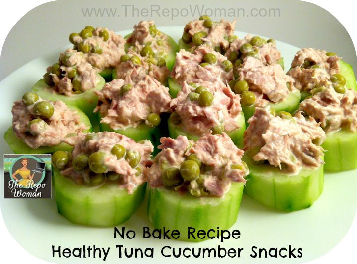 Healthy Recipes Snacks  Healthy Snack Recipe Tuna Cucumber Snack Here's a quick
