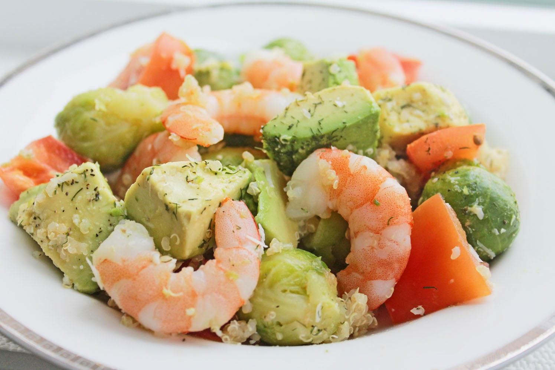 Healthy Recipes With Avocado  Healthy Dinner Recipe Shrimp Avocado Quinoa Bowl