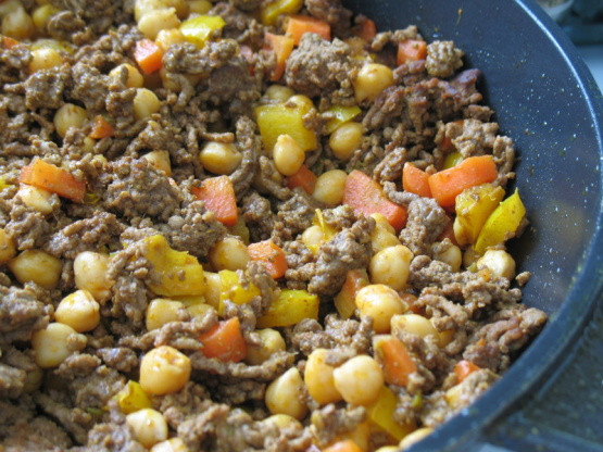 Healthy Recipes With Ground Beef  Singapore Noodles With Ground Beef And Chickpeas Recipe