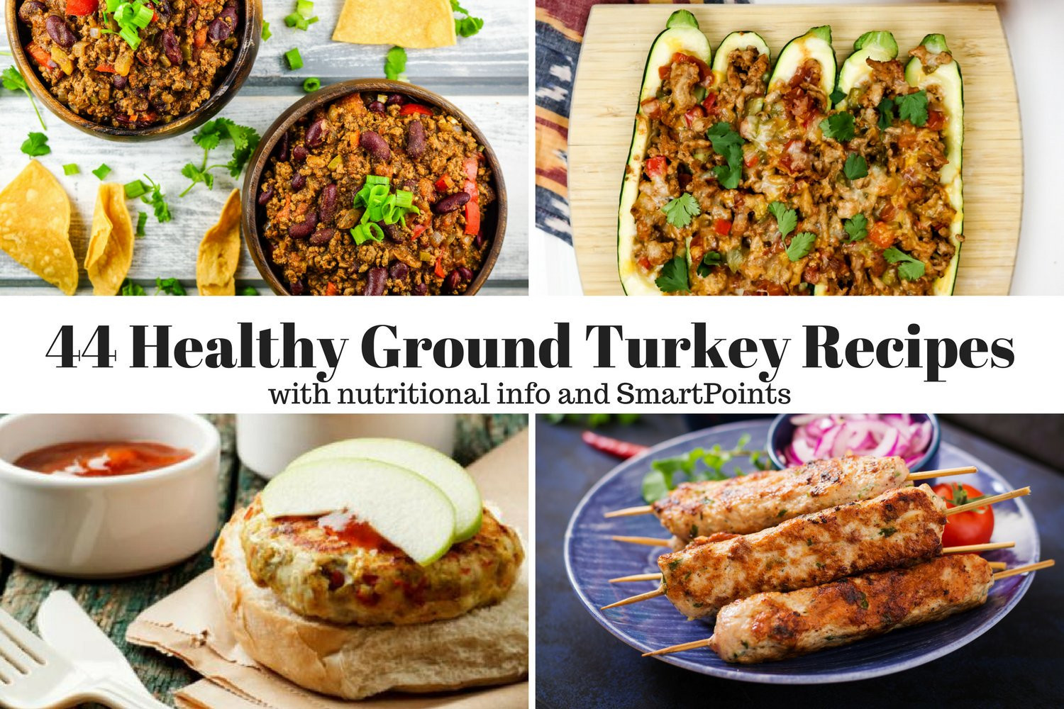 Healthy Recipes With Ground Turkey  Forty Four Healthy Ground Turkey Recipes Slender Kitchen