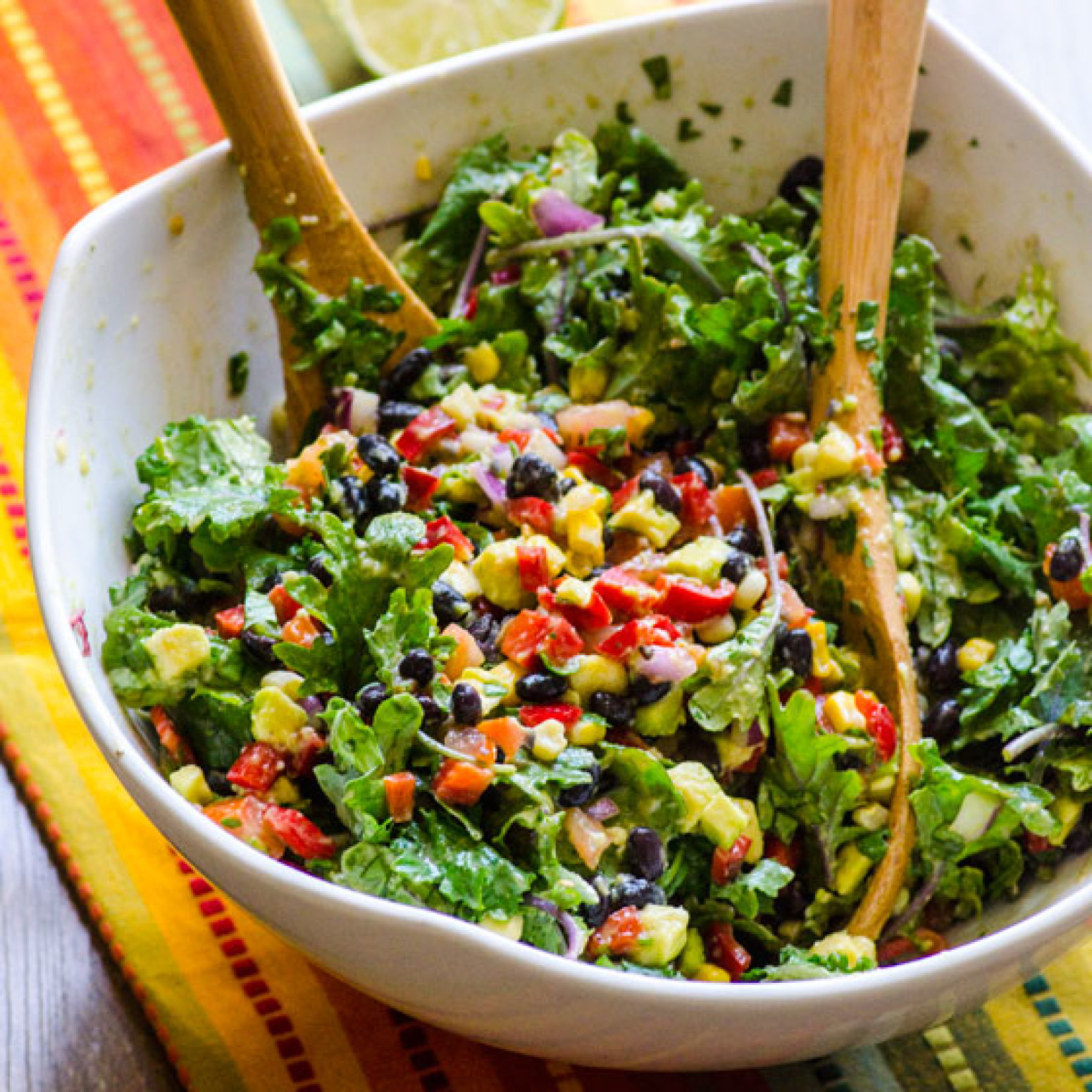Healthy Recipes With Kale  Healthy Creamy Mexican Kale Salad Recipe