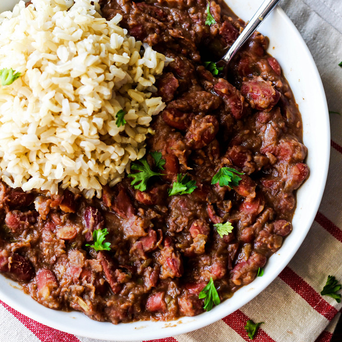 Healthy Red Beans And Rice  Cajun Style Vegan Red Beans and Rice