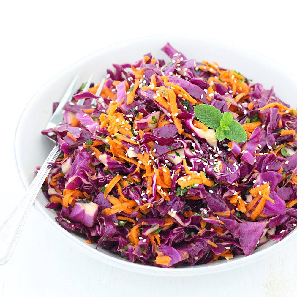 Healthy Red Cabbage Recipes  Thai Sesame Red Cabbage and Carrot Salad Bowl of Delicious