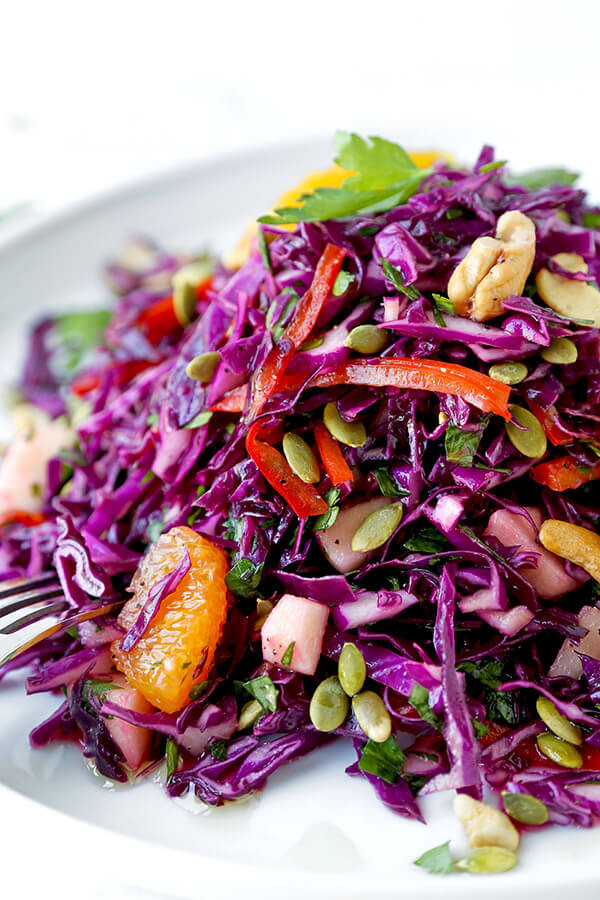 Healthy Red Cabbage Recipes  Detox Red Cabbage Slaw Pickled Plum Food And Drinks