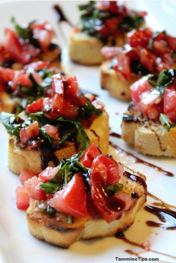 Healthy Restaurant Appetizers  Appetizer recipes Bruschetta recipe and Easy bruschetta