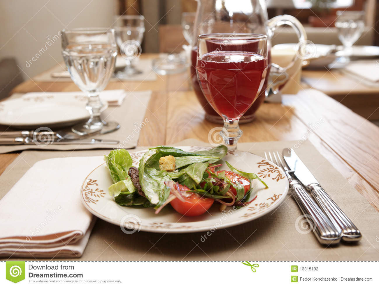Healthy Restaurant Appetizers  Healthy Appetizer Restaurant Table Stock graphy