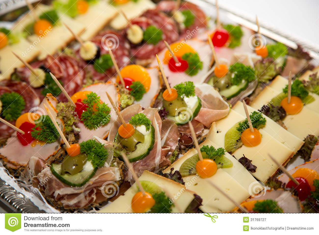 Healthy Restaurant Appetizers  Appetizers A Plate At Buffet Royalty Free Stock