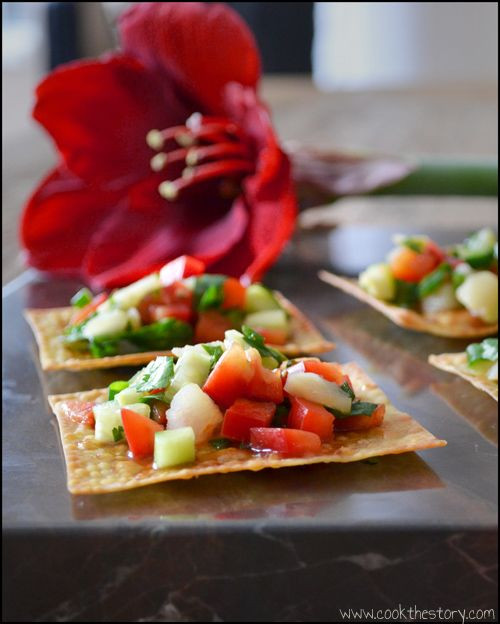 Healthy Restaurant Appetizers  10 best images about Asian Canapes on Pinterest