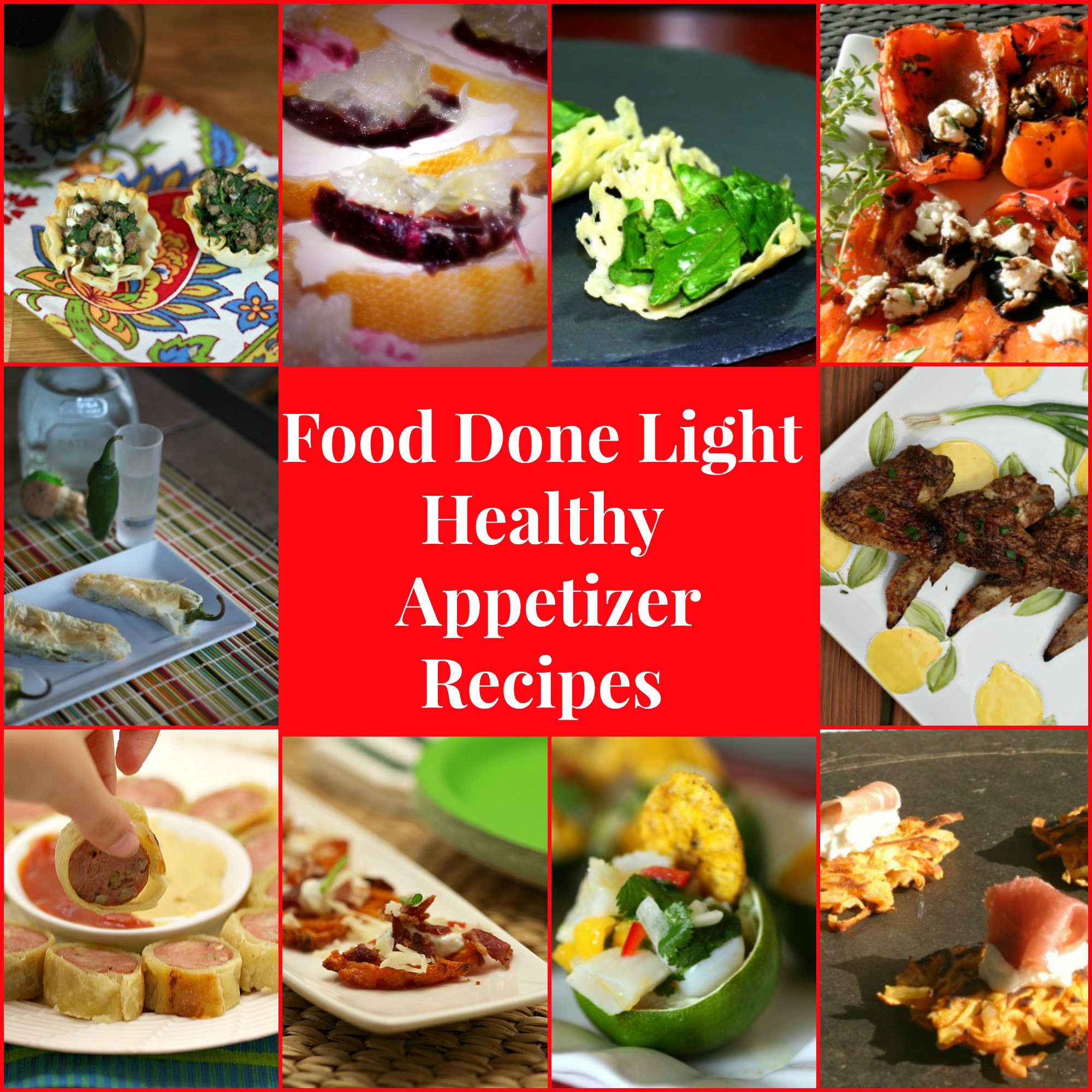 Healthy Restaurant Appetizers  Food Done Light Healthy Appetizer Recipes